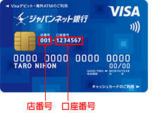 ジャパンネット銀行店番号003